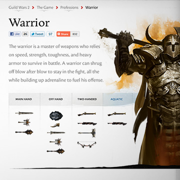 Guild Wars 2 Website – Ryan McIntyre Design